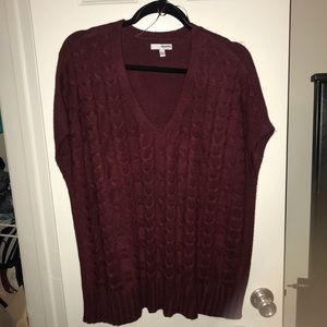 Sonoma Maroon Cable-knit sweater